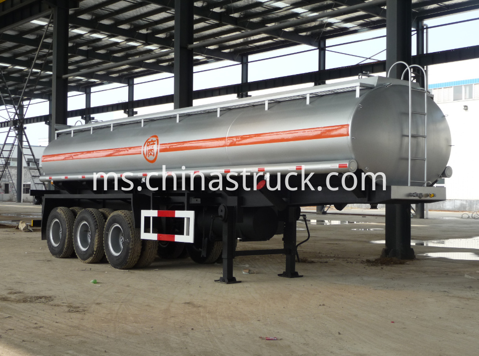 3 axle 19000 liters sufuric acid tank trailer