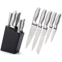 Ensemble de couteau de cuisine à poignée creuse en acier inoxydable 5 pièces (A24)