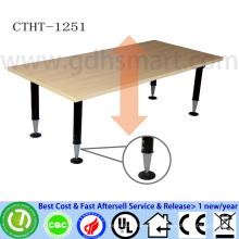 reception desk hair salon acrylic reception desk manual screw height adjustable table