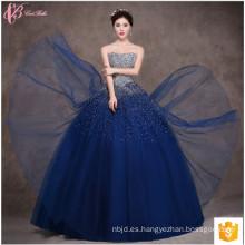 Suzhou rojo azul de hombro de encaje de cuentas Cinderella largo Puffy cena vestido de noche