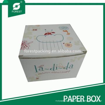 Impression de couleur boîte en carton ondulé