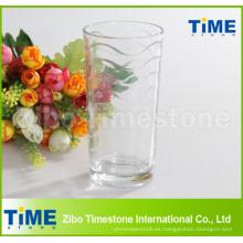 Taza de jugo de cristal transparente barata del agua de la venta caliente
