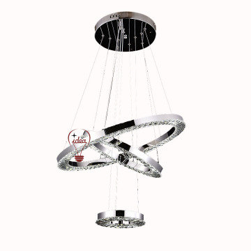 K9 crystal and stainless steel modern chandelier
