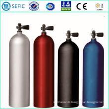 Cylindre de plongée en aluminium sans soudure haute pression (LWH184-12-20)
