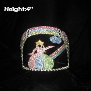 4in altura personalizado Cinderela princesa coroas