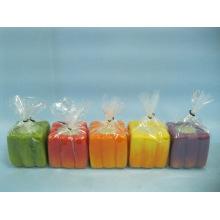 Pumpkin Candlestick Shape Ceramic Crafts (LOE2366F-5z)