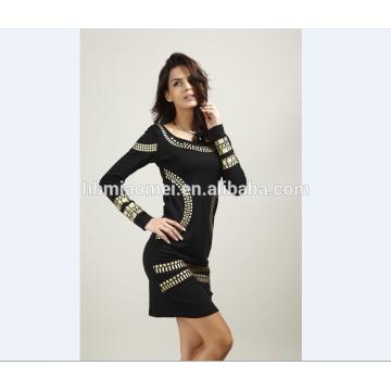 Las mujeres atractivas del OEM 2017 visten el vestido sin respaldo de la señora del Office del vestido del verano