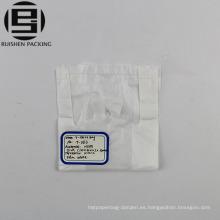 Bolso de empaquetado de la camiseta del HDPE reciclable del color blanco