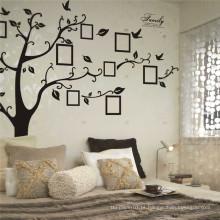Myway estoque grande 180 * 250 cm / 79 * 99in preto 3d diy pvc auto-adesivo memória da família árvore pvc adesivos de parede