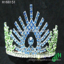 New designs rhinestone royal accessories happy new year tiara crowns