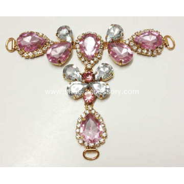 Vintage Rhinestone Sandals Chain for Lady`s Party Shoes