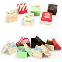 Impression à bas prix Mini carré d'emballage Boîte à papier cadeau / Boîtes d'emballage de montre