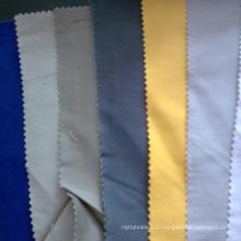 Tissu en coton et polyester mélangés teinté