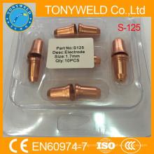 Buse et électrode d'accessoires de chalumeau à plasma Trafimet S125