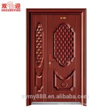 Standard size of main gate high quality one and half door leaf steel door