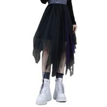 2021Gothic Women skirts spring style black asymmetrical cutting multi layer mesh  OPQ-930BQF clothing women new design PUNK RAVE