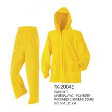 Imperméable imperméable de PVC manteau imperméable de capuche de pluie