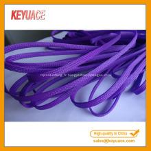 Gaines de câble extensibles tressées en PET multicolore