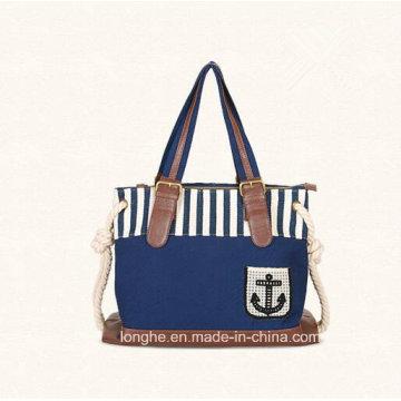 European Hot Sell The Latest Design Canvas Ladies Handbags