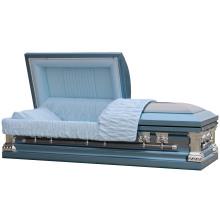 Cercueil d'acier brosse Blue Knight 18ga
