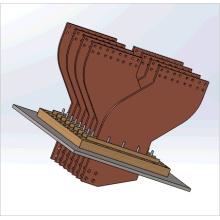 Barra de barra de cobre para a parte do transformador; Barra de ônibus em alumínio; Sistema Condutivo de Cobre