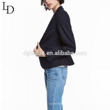 Traje de negocios de la señora del color puro de manga larga del diseño personalizado