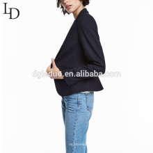 Design personalizado manga longa cor pura senhora terno