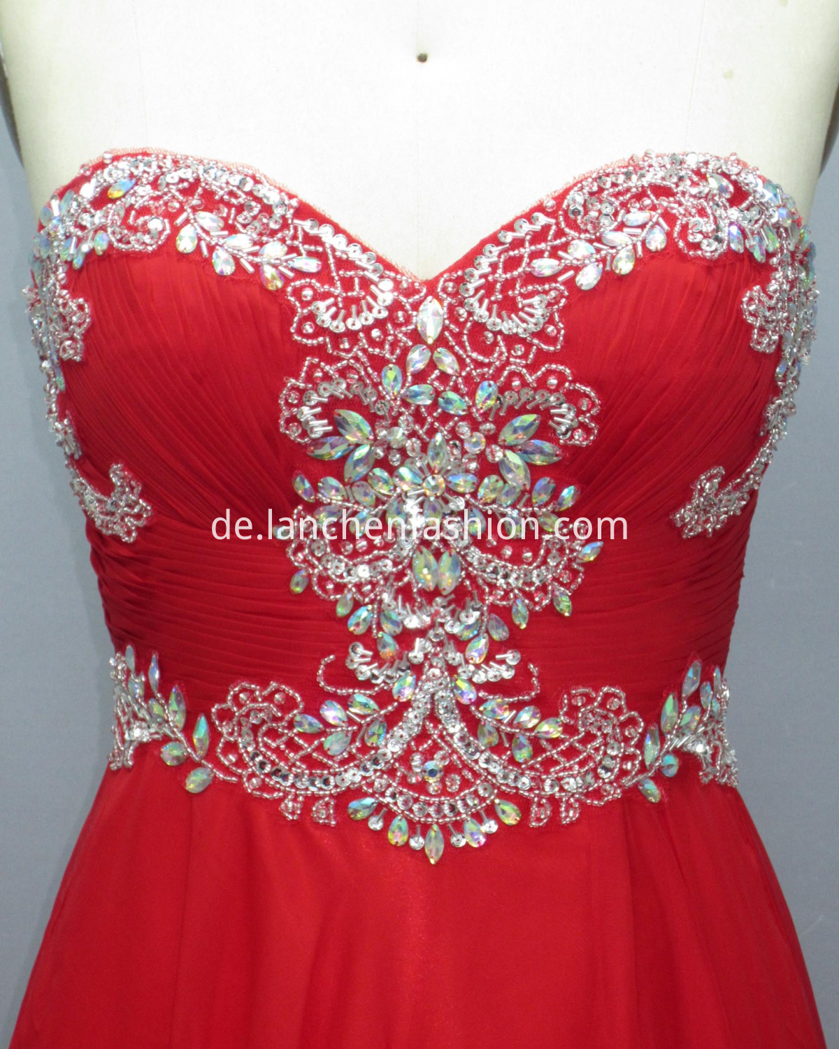 Sleeveless Prom RED