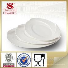 Platos de servir blancos, utensilios de cocina de vietnam