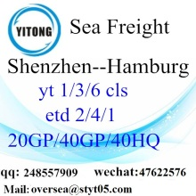 Shenzhen port sea freight shipping ke Hamburg