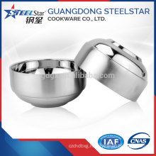 Mirror polish stainless steel soup bowl round rice bowl korean style hign quality
