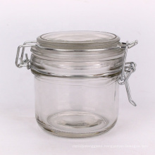 Wide mouth 6oz home goods glass storage jar candy jar jam jar with stainless steel lid
