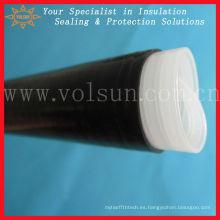 Instalación simple manga de goma de silicona retráctil