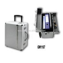 maleta de alumínio portátil com 2 rodas de China fabricante alta qualidade