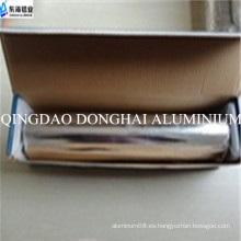 Hoja de aluminio pequeño rollo con salver