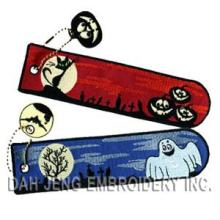 Embroidered Bookmarks - Glow in The Dark - Halloween