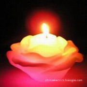 Rose-shaped Design Wax Candle, Suitable for Decoration and Collection