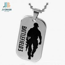 Good Factory Quality Steel Deboss Black Color Battlefield Dog Tag