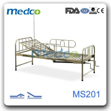 Adjustable stainless steel two cranks hospital bed MS201