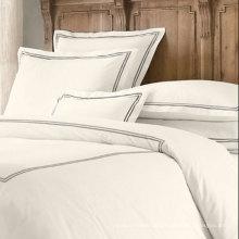100% Algodão Egípcio 600tc Algodão Percale Branco Crisp Bedding Linen (DPFB8087)