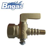 1/2 PSI brass petcock gauge valve