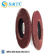 T27/T29 calcined aluminua fiberglass flap disc