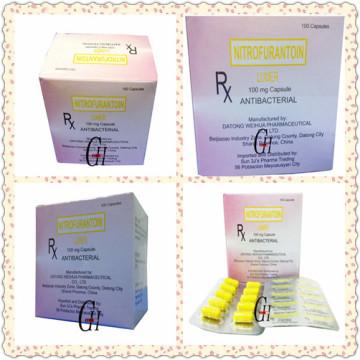 Antibakterielle Nitrofurantoin-Kapseln