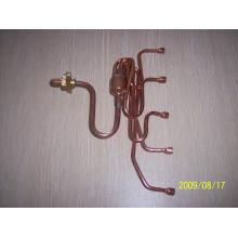 Distribuidor de cobre con Capilliries / Accesorio de aire acondicionado