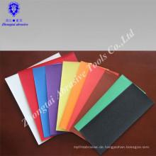 Farbiges Schleifpapier der guten Qualität