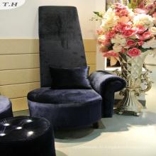 Tela brillante de terciopelo italiano para sofá