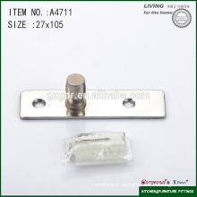 Dos tornillos de cristal puerta hardware eje central
