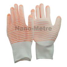NMSAFETY 13 г красочные У3 вкладыша полиэфира покрынный PU печатных сад перчатки руки