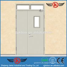JK-F9049 porta de aço resistente ao fogo porta de saída de fogo com vidro