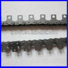 Cadena de rodillos de paso corto con accesorios A1